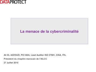 Ali EL AZZOUZI, PCI QSA, Lead Auditor ISO 27001, CISA, ITIL