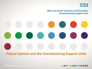 Patient Opinion and the Commissioning Support Units