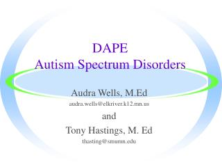 DAPE  Autism Spectrum Disorders