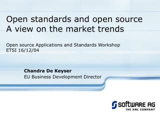 Chandra De Keyser EU Business Development Director