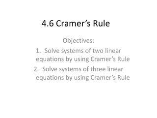 4.6 Cramer's Rule