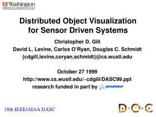 Distributed Object Visualization for Sensor Driven Systems