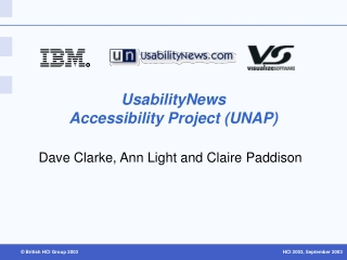 UsabilityNews  Accessibility Project UNAP