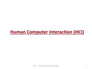 14.6 Human Computer Interaction