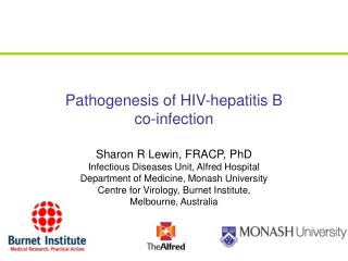 Pathogenesis of HIV-hepatitis B  co-infection