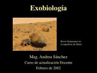 Exobiolog a