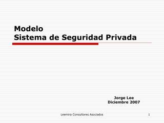 Modelo Sistema de Seguridad Privada