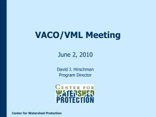VACO/VML Meeting