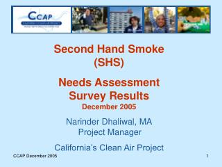 Second Hand Smoke (SHS) Needs Assessment Survey Results December 2005