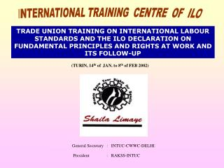 INTERNATIONAL TRAINING  CENTRE  OF  ILO