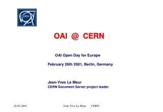 OAI  @  CERN