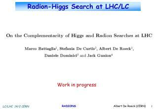 Radion-Higgs Search at LHC/LC