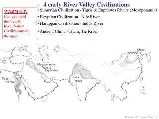 4 early River Valley Civilizations