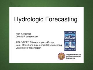Hydrologic Forecasting