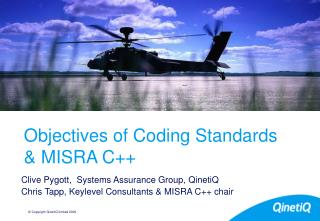 Objectives of Coding Standards & MISRA C++