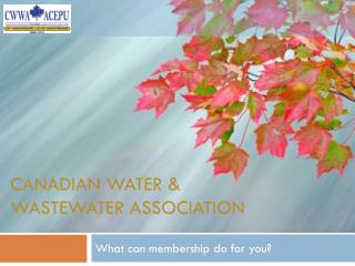Canadian Water & Wastewater Association