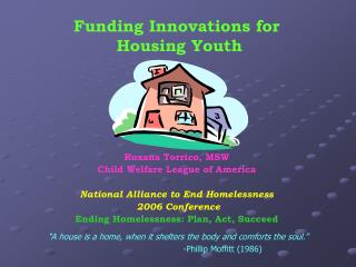 Funding Innovations for  Housing Youth