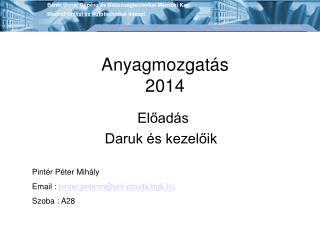 Anyagmozgatás 2014