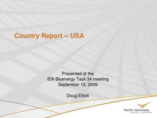 Country Report -- USA