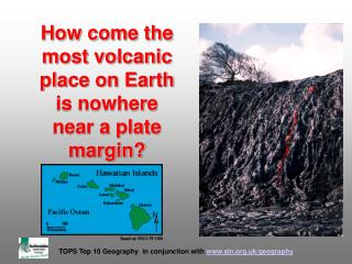 How come the most volcanic place on Earth is nowhere near a plate margin