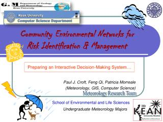 Community Environmental Networks for Risk Identification & Management