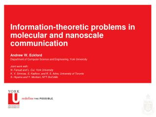 Information-theoretic problems in molecular and nanoscale communication