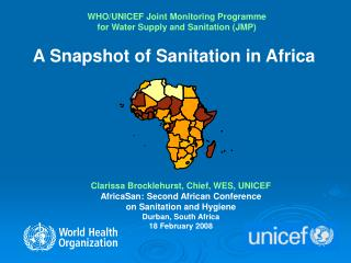 WHO/UNICEF Joint Monitoring Programme for Water Supply and Sanitation (JMP)