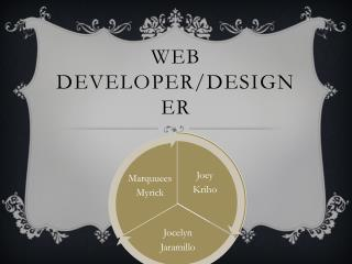 Web Developer/Designer