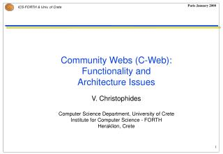 What is C-Web ?