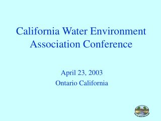 California Water Environment Association Conference