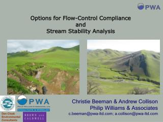 Christie Beeman & Andrew Collison Philip Williams & Associates
