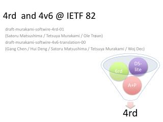 4rd  and 4v6 @ IETF 82