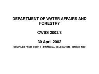 REGIONAL ALLOCATIONS - PROGRAM 5 [REV 3.6] 2002 / 3