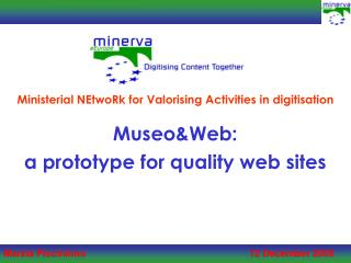 Museo&Web: a prototype for quality web sites