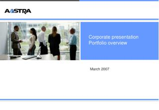 Corporate presentation Portfolio overview