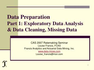 Data Preparation Part 1: Exploratory Data Analysis & Data Cleaning, Missing Data