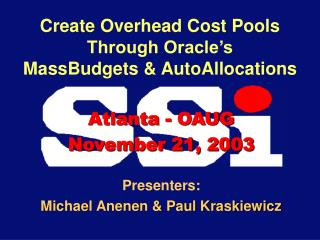 Create Overhead Cost Pools Through Oracle s MassBudgets  AutoAllocations