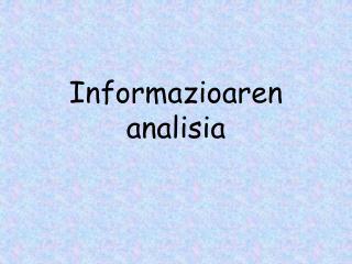 Informazioaren analisia