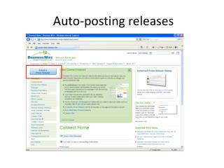 Auto-posting releases