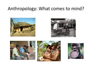Anthropology: What comes to mind?