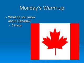 Monday�s Warm-up
