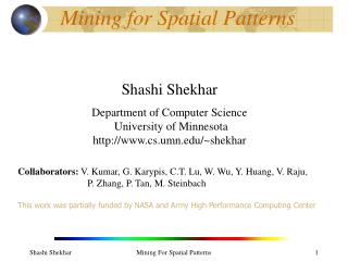 Mining for Spatial Patterns