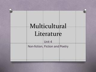 multicultural literature essay Canada and multiculturalism essay naturally becomes more diverse the government of canada recognizes the diversity of canadians as regards to national or ethnic origin, colour and.