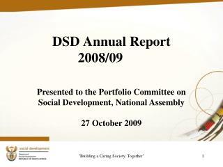 DSD Annual Report 2008/09