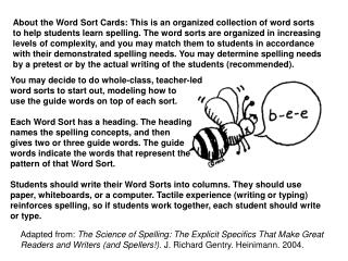 About the Word Sort Cards: This is an organized collection of word sorts