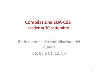 Compilazione SUA-CdS   scadenza 30 settembre