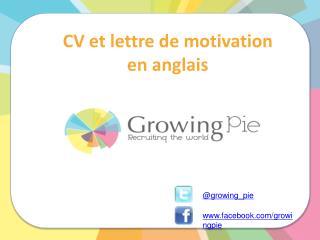 CV et lettre de motivation en anglais