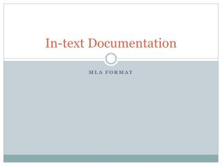 In-text Documentation