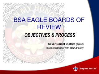 BSA Eagle Boards of Review Objectives & Process