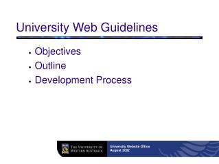 University Web Guidelines